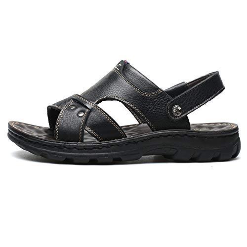 Color 3 Aire De 0 24 De Cómodos Sandalias para Negro De Wangcui Negras 27 CM Cuero Transpirables 39 Playa Libre 1 EU Sandalias Al Zapatos 0 Negro tamaño Hombres Verano 5Bpq5UxY