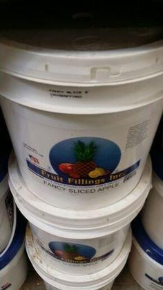 Fruit Fillings Inc Sliced Apple Filling 36 Lb