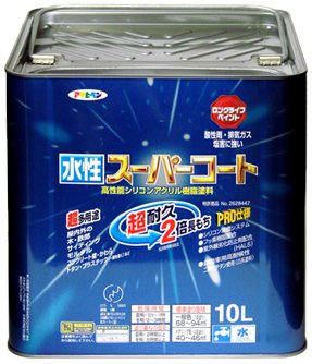 アサヒペン ペンキ 水性スーパーコート 水性多用途 ツヤ消し白 10L B0013KZGTG