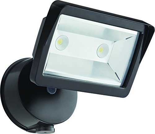 Lithonia Lighting OLFL 14 PE BZ Adjustable LED Floodlight with Dusk-to-Dawn Photocell, 1900 Lumens, 120 Volts, 25 Watts, Wet Listed, Black Bronze