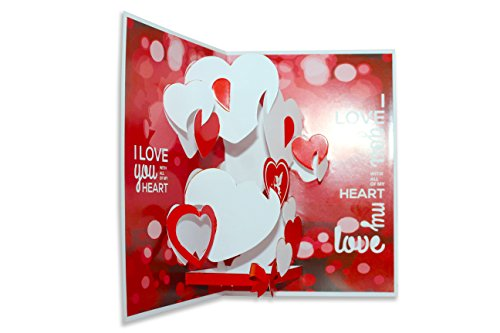 Suridblue love pop up 3d greeting card amazon office products m4hsunfo