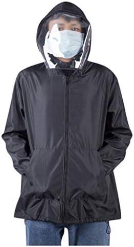 Unisex Anti Nebel Kapuzen Oberteil Schutzkleid Anti Tr/öpfchen UV-Schutz Schutzanzug Outdoor Jacke Mit Gesichtsmaske Sonnenschutz Jacke Sport Mantel Hemd T-Shirt Sommer Coat