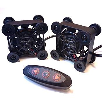Easycargo 2-Pack 40mm USB Fan Quite, USB Mini-Fan 5V with Multi Speed Controller (40mm)
