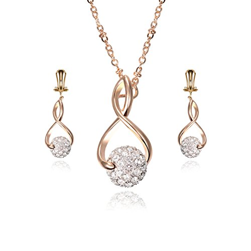 [M-Tree Stainless Steel Jewelry Sets - Fashion Cute Ball Pendant Necklaces Stud Earring For Women Color] (Simple Cheer Dance Costumes)