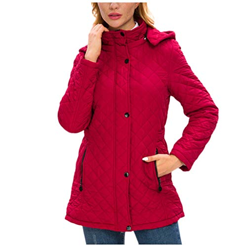 Womens Winter Thickened Hooded Down Coats Jacket Outdoor Casual Mid Length Warm Parka Outerwear