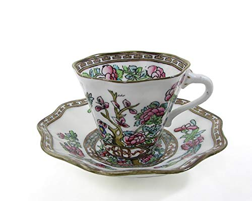 - Coalport INDIAN TREE-MULTICOLOR Flat Cup & Saucer Set(s) Multi Avail EXCELLENT