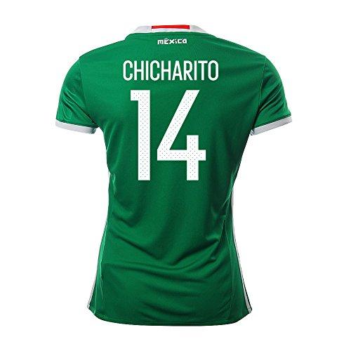 かんがいお母さん薄いCHICHARITO #14 Mexico Women's Home Jersey COPA America Centenario 2016/サッカーユニフォーム メキシコ ホーム用 チチャリート レディース向け