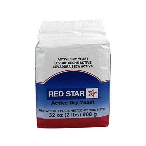 TableTop King Lesaffre Red Star Bakers Active Dry Yeast 2 lb. Vacuum Pack - 12/Case