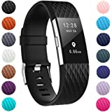 ZEROFIRE Bands Compatible for Fitbit Charge 2, Replacement Adjustable Sport Bands for Charge 2 Heart Rate Fitness Wristbands, Women Men, Small and Large