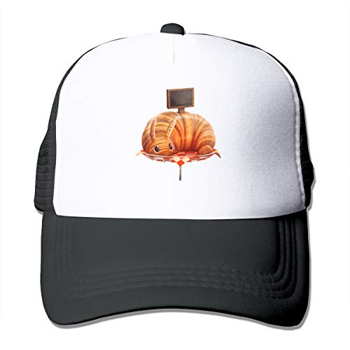 Rabbit Croissant Classic Trucker Hat Adjustable Baseball Cap for Men and Women Black