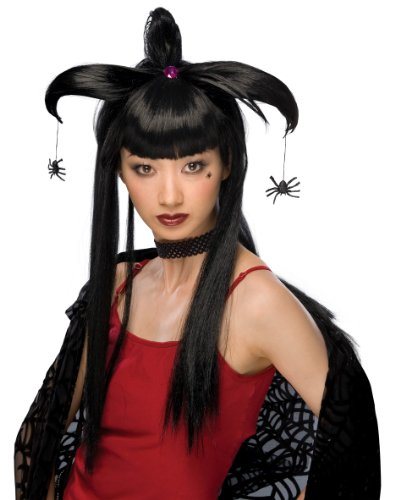 Scary Harlequin Costume (Rubie's Costume Spider Harlequin Wig, Black, One Size)
