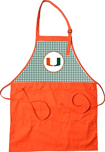 Miami Hurricanes Apron - 2 Styles (Check)