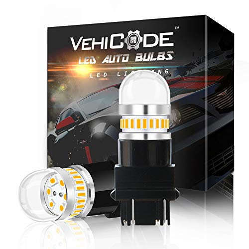 VehiCode Bright 950Lms 3157 Dual Function LED Light Bulb (3000K Amber Yellow) Kit - 3156 3457 3047 3057 4057 4157 4114 Replacement for Car Turn Signal Blinker DRL Daytime Running - Ford Pickup Specifications