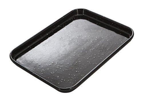 MASTERPRO MPVITHB54 Baking Tray, Carbon Steel/Vitreous Enamel/Black