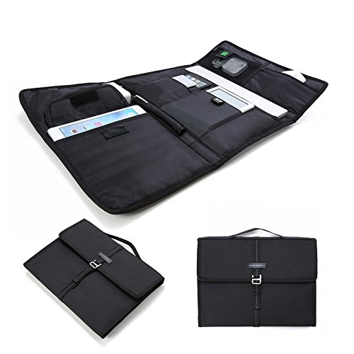 "BAGSMART Electronic Organizer Slim Laptop Briefcase for 13"" MacBook, iPad, Kindle, Black"