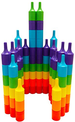 Magz Clix40 Magnetic Building and Stacking Set Consisting of 40 Magnetized Piece