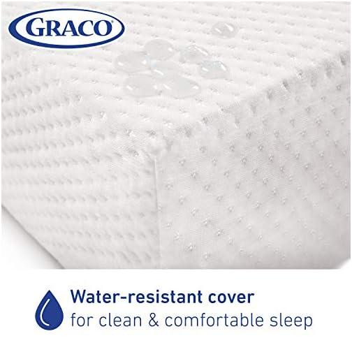 Graco Premium Foam Crib and Toddler Mattress, White – Ships Compressed in Lightweight Box, Ideal Mattress Firmness…