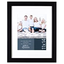 Gallery Solutions 08P1703 Black Glossy Frame with Mat, 11 by 14-Inch Matted to 8 by 10-Inch