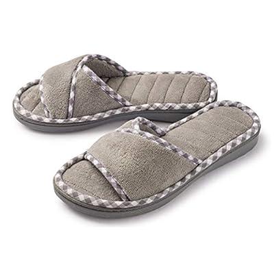 Roxoni Womens House Slippers Open Toe Slide Slipper | Slippers