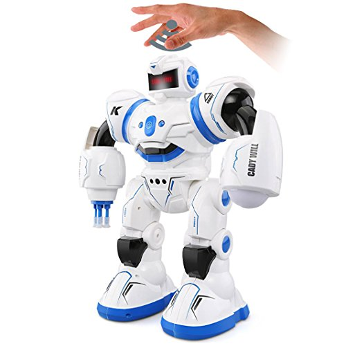 Charming R3 Robotic Toys Clever Programming Combating Mode Dancing Contact Gesture Sensor Management Children Christmas Birthday Reward (Blue)