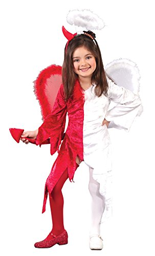 UHC Girl's Naughty Nice Toddlr Devil & Angel Fancy Dress Child Halloween Costume, 3T-4T (Naughty Devil Costume)