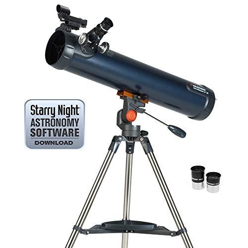 Celestron 31036 AstroMaster LT 76AZ Breathtaking Views, Astronomical Telescope, Blue (Celestron Astromaster 114 Eq Reflector Telescope Review)