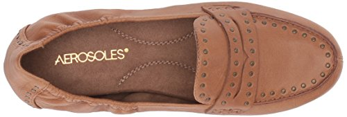 up Aerosoles Loafer Penny Women's Tan Leather Dark Drive HHvqEwax