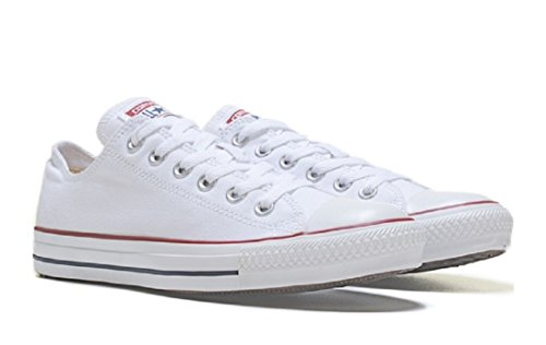 Converse Unisex Chuck Taylor All Star Low Top Sneaker (8.5 B(M) US Women / 6.5 D(M) US Men, white)