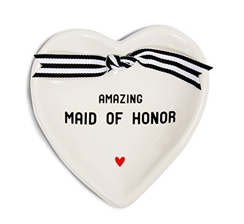 - Pavilion Gift Company 63051 Maid of Honor Ceramic Keepsake Dish, 4-1/2