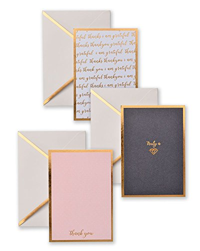 Gold Shimmer-Foil Note & Thank You Card Set