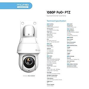 Amcrest 1080P Outdoor PTZ POE IP Camera Pan Tilt Zoom - The