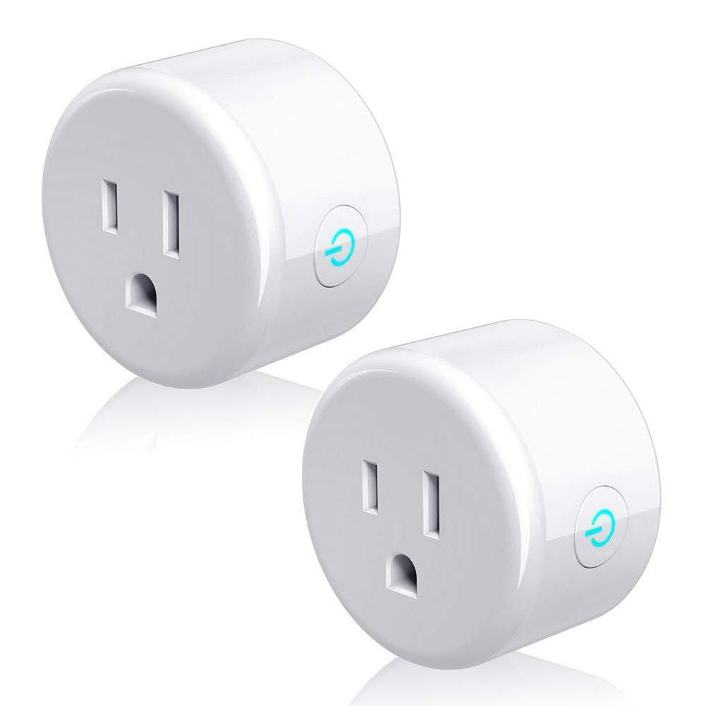 Lintelek Smart Plug Mini Socket Outlet Switch Device Works with Alexa Echo & Google Assistant & IFTTT, Wifi Wireless Remote Control (No Hub Required) with Timer Function & Energy Monitoring, 2 Pack