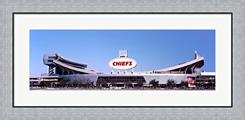 Arrowhead Stadium, Kansas City, Missouri by Panoramic Images Framed Art Print Wall Picture, Flat Silver Frame, 35 x 17 inches Arrowhead Stadium Framed Photo