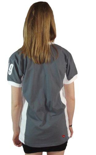 Mesdames Edimbourg n ° 9 T-shirt gris foncé et blanc