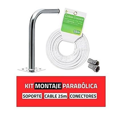 Kit Montaje Antena Parabólica satelite