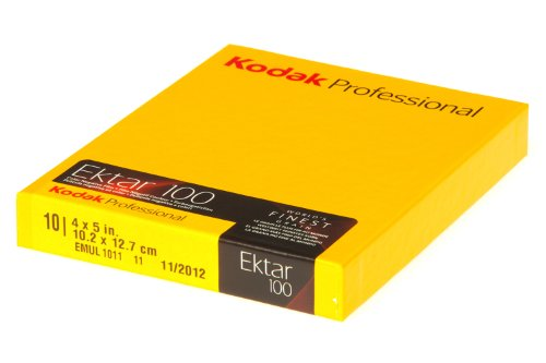Large Format Film - Kodak 158 7484 Professional Ektar Color Negative Film ISO 100, 4 x 5 Inches, 10 Sheets (Yellow)