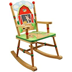 fantasy fields thematic boyu0027s wooden small rocking chair happy