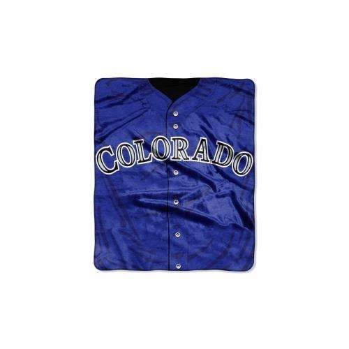 Plush Rockies Colorado (The Northwest Company MLB Colorado Rockies Jersey Plush Raschel Throw, 50