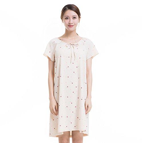 Falda De Noche/Versión Coreana,Fresca,En La Falda/100% Algodón,Cordón,Suelto,Pijama S