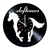 Everyday Arts Deftones Design Vinyl Record Wall Clock - Get Unique Bedroom or Garage Wall Decor - Gift Ideas for Friends, Brother - Darth Vader Unique Modern Art