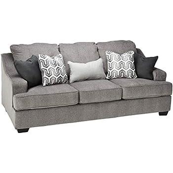 Amazon.com: Emerald Home Slumber Charcoal Sleeper Sofa with Faux ...