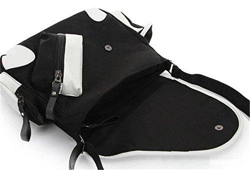JUSTGOGO Casual Messenger Bag Crossbody Bag Shoulder Bag Travel Bag Handbag Tote Bag (1) by JUSTGOGO (Image #3)