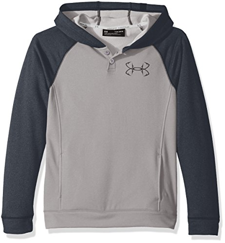 Under Armour Outerwear Boys Shoreline Terry Hoodie, Overcast Gray/Stealth Gray, Large