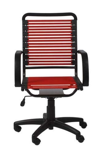 eS Modern High Back Bungee Office Chair in Red