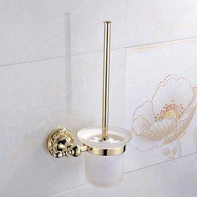 XY&XH Toilet Brush Holder , Antique Ti-PVD Finish Brass Material Toilet Brush Holder , Golden