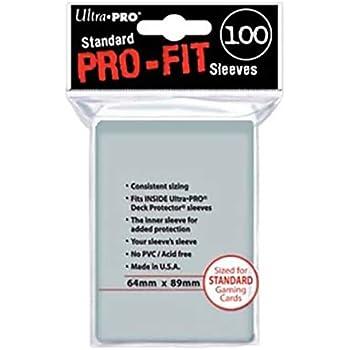 Amazon.com: Ultra-Pro estándar Pro-fit transparente Sleeves ...