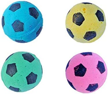 MAGIKON 12pcs Foam/Sponge Soccer Ball Cat Toy, Interactive Cat Toys, Pet Kitten Cat Exrecise Toy Balls for Real Cats Kittens, Soft/Bouncy/Noise Free 3