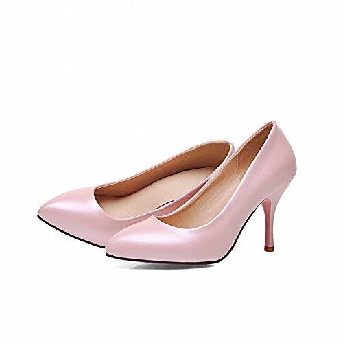 Latasa Donna Elegante Classico Stile Punta A Punta Tacco Alto Pompe Scarpe Rosa