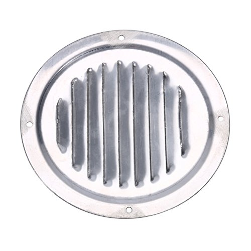 Amarine Made Stainless Steel 5 Inch Marine Boat Engine Louvered Style Vent Cover (1pcs)
