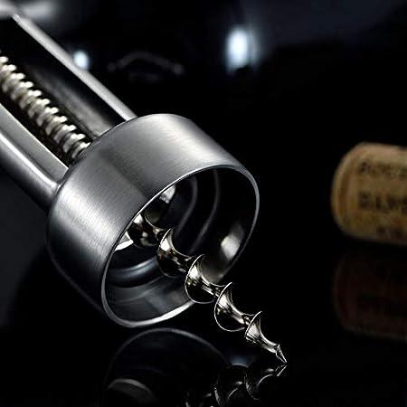 YSYPET - Juego de 3 abrebotellas de vino de acero inoxidable + tapón de vino + cortador/tapón de sacacorchos duradero para vino tinto AB.